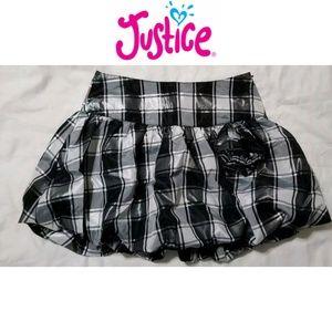 Justice   Black White Plaid Skort Christmas